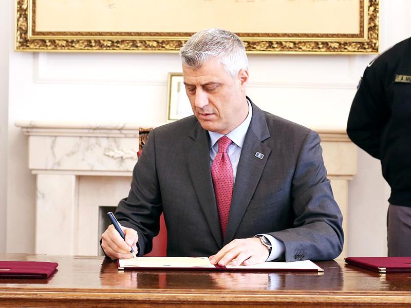 """Глава Косова подписал пакет законов о создании армии"""" />"""