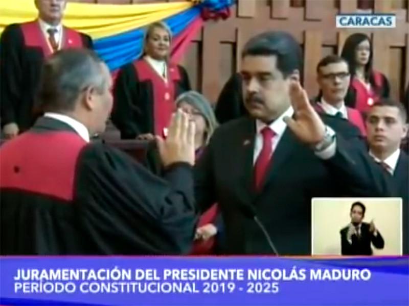 Победитель президентских выборов в Венесуэле Николас Мадуро вступил в четверг в должность главы государства на второй шестилетний срок
