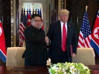 По итогам первого в истории саммита лидеров США и КНДР, состоявшегося в Сингапуре 12 июня, Трамп и Ким Чен Ын подписали совместный документ, в котором Пхеньян взял на себя обязательства по денуклеаризации Корейского полуострова в обмен на гарантии безопасности со стороны Вашингтона