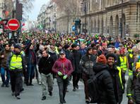 """Сами """"желтые жилеты"""" категорически отвергают статистику властей. По их собственным подсчетам, в колоннах демонстрантов по всей Франции находились более 400 тыс. человек"""