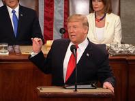 Первую часть своего второго обращения на посту главы государства Трамп посвятил достижениям в сфере экономики, которые произошли за два года его президентства