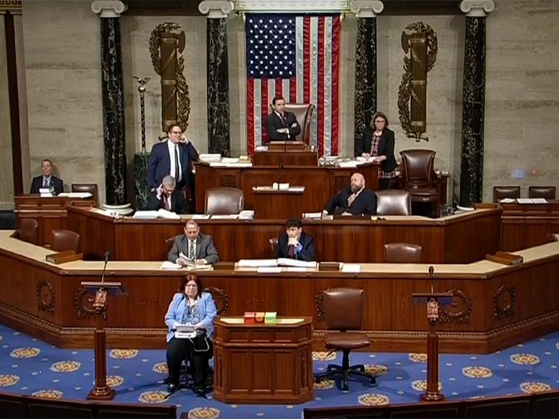 """Палата представителей США проголосовала за снятие введенного Трампом режима ЧП"""" />"""