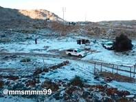 В Саудовской Аравии вновь выпал снег (ВИДЕО, ФОТО)