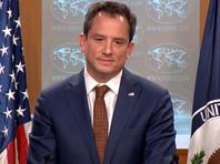 Об сказано в письменном заявлении заместителя руководителя пресс-службы Госдепартамента США Роберта Палладино
