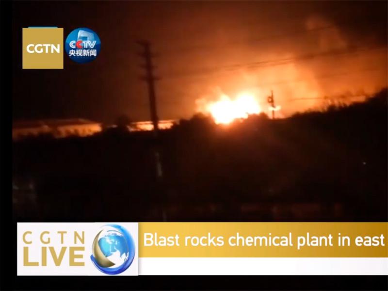 В Китае произошел взрыв на химическом заводе, погибли 6 человек