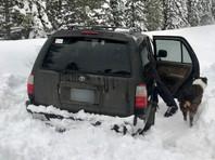 В США спасли угодившего в снежный плен мужчину с собакой