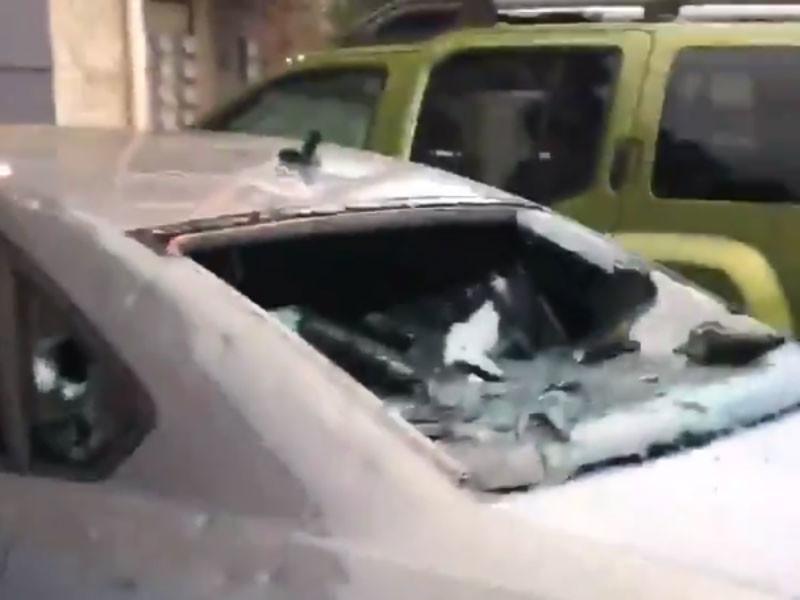 Град размером с бейсбольный мяч побил окна и автомобили в штатах Оклахома и Техас
