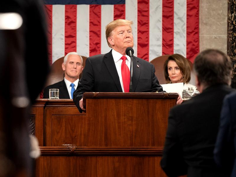 Дональд Трамп в Капитолии, 5 февраля 2019 года