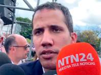 Оказавшись в столице, Гуайдо выступил с речью на митинге оппозиции. Он был организован около площади Альфредо Саделя в районе Лас-Мерседес в Каракасе и собрал от 50 тысяч до 100 тысяч человек