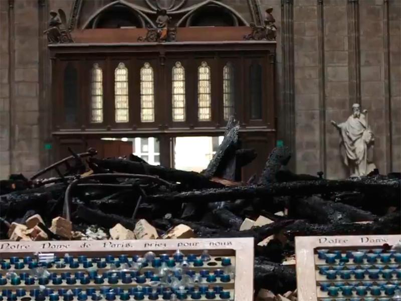 Пожар в соборе Парижской Богоматери вспыхнул вечером 15 апреля. Огонь удалось полностью потушить лишь утром следующего дня