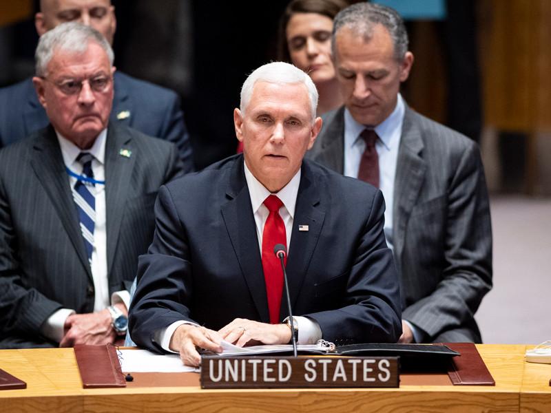Майкл Пенс, Совбез ООН, 10 апреля 2019 года