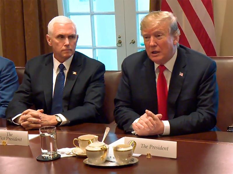 Президент США Дональд Трамп встретился с генеральным секретарем НАТО Йенсом Столтенбергом