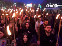 В Ереване организовано факельное шествие в память о жертвах геноцида армян в Османской империи
