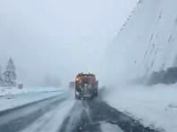 Снегопад в Швейцарии, 4 апреля 2019 года