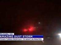 Песчаная буря превратила день в ночь на юго-востоке Австралии (ФОТО, ВИДЕО)