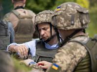 Зеленский впервые побывал на линии фронта в Донбассе