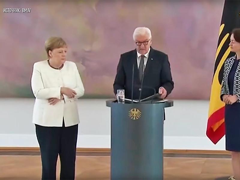 """Меркель снова охватила неконтролируемая дрожь на официальной встрече"""" />"""