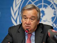 """Генеральный секретарь ООН Антониу Гутерриш в свою очередь выразил озабоченность эскалацией боевых действий в Идлибе и призвал Россию и Турцию """"безотлагательно"""" стабилизировать обстановку на северо-западе Сирии"""