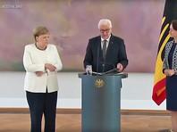 Меркель снова охватила неконтролируемая дрожь на официальной встрече