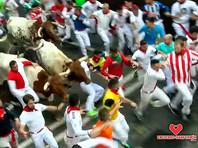 Восемь человек пострадали во время забега с быками на фестивале Сан-Фермин в Испании