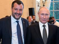 Маттео Сальвини и Владимир Путин, июль 2019 года