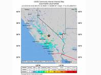 Новый подземный толчок магнитудой 7,1 зафиксирован в Калифорнии на следующий день после землетрясения магнитудой 6,4 в округе Керн на юге штата. Его эпицентр, по данным Геологической службы США (USGS), находился в 17 км к северу от города Риджкрест, а гипоцентр - на глубине 17 км
