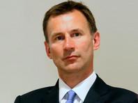 Министр иностранных дел Великобритании Джереми Хант заявил, что Лондон внимательно следит за последними событиями