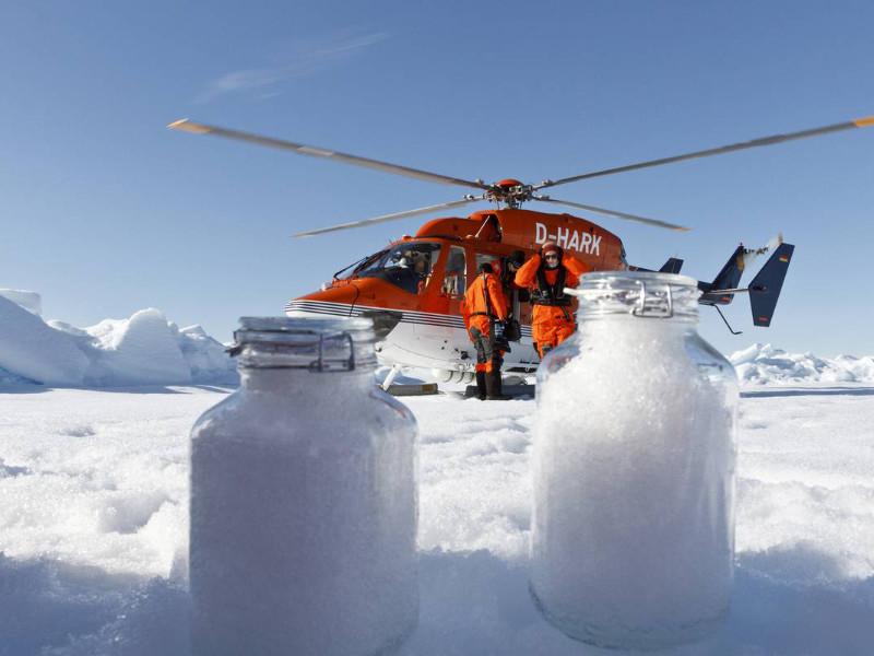 Команда ученых немецкого Института полярных и морских исследований имени Альфреда Вегенера (AWI)провела исследования образцов снега из Гельголанда, Баварии, Бремена, Швейцарских Альп и Арктики