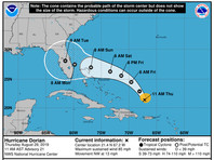 """Из Флориды перебрасывают военные самолеты в другие штаты из-за приближения урагана """"Дориан"""""""