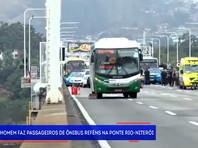 В Рио-де-Жанейро снайпер застрелил мужчину, захватившего в заложники пассажиров автобуса