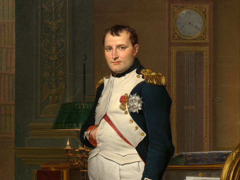 Бронзовая копия посмертной маски французского императора Наполеона Бонапарта (1769-1821) выставлена на аукцион в американском городе Новый Орлеан (штат Луизиана)
