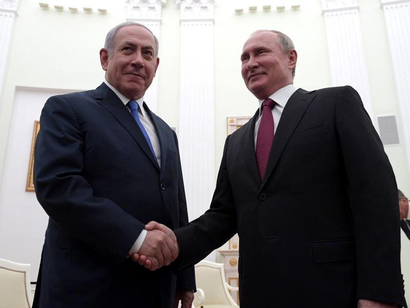 Биньямин Нетаньяху и Владимир Путин, июль 2018 года