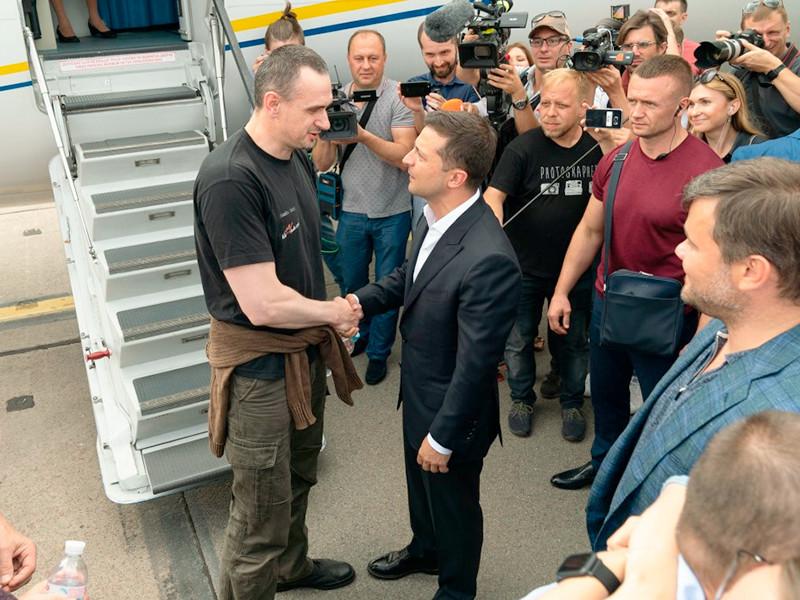 Владимир Зеленский и Олег Сенцов