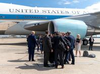 Дональд Трамп на авиабазе Эндрюс, 26 сентября 2019 года