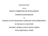 Комитет по разведке Сената США пришел к выводу, что на выборах 2016 года РФ помогала Трампу и мешала Клинтон