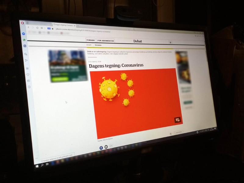 Посольство КНР в Дании потребовало извинений у газеты за карикатуру на коронавирус