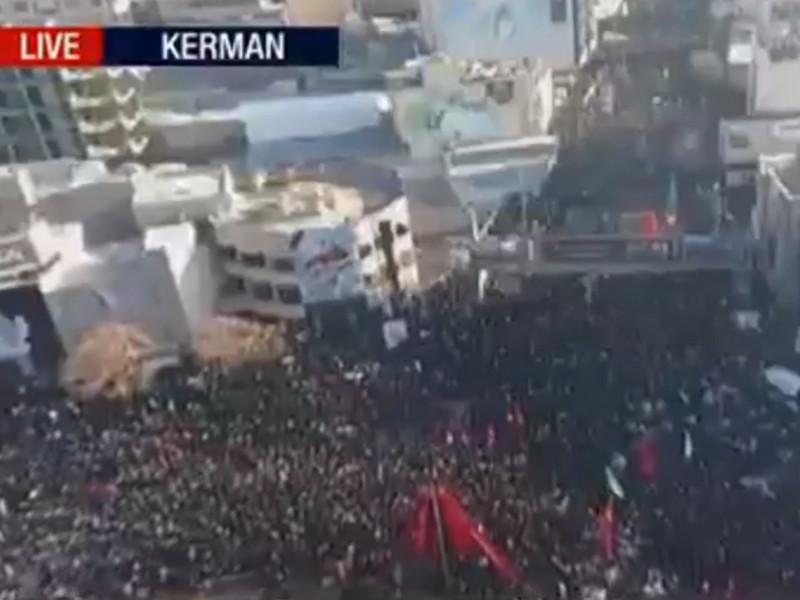 Не менее 35 человек погибли и 48 пострадали в давке на похоронах генерала Касема Сулеймани в городе Кермани на юго-востоке Ирана