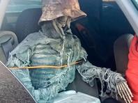 В США мужчину оштрафовали за то, что он ездил в автомобиле с искусственным скелетом на пассажирском сидении