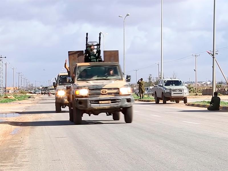 Силы Ливийской национальной армии (ЛНА) под командованием Халифы Хафтара