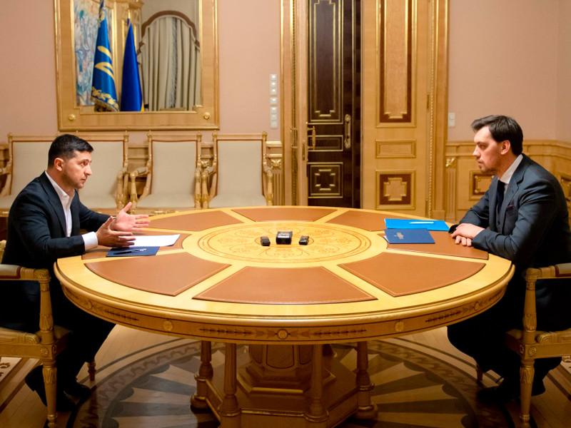 Владимир Зеленский и Алексей Гончарук, 17 января 2020 года