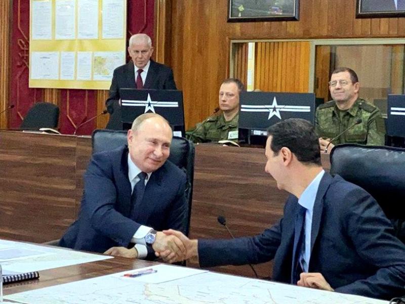 """Владимир Путин посетил Дамаск и провел переговоры с Башаром Асадом"""" />"""