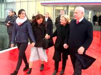 Наама Иссахар с матерью и четой Нетаньяху, Москва, 30 января 2020 года