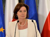 Вице-спикер парламента Польши Малгожата Кидава-Блоньская