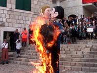 В Хорватии на карнавале сожгли чучело однополой семьи (ВИДЕО)