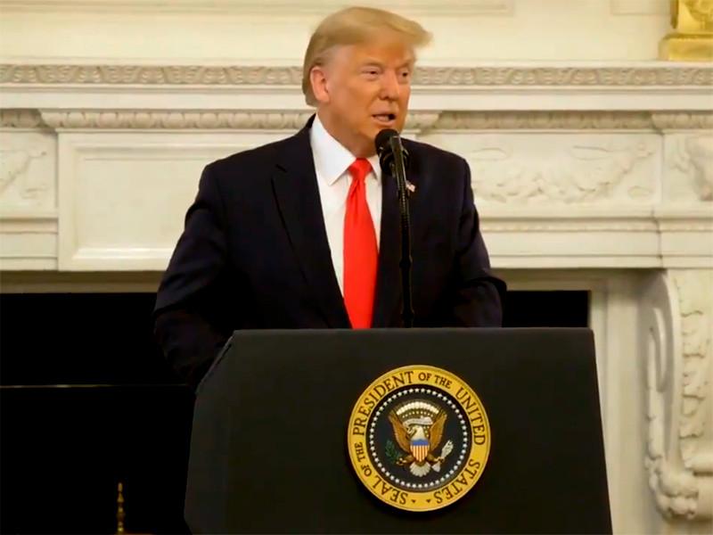 Выступление Дональда Трампа перед губернаторами американских штатов
