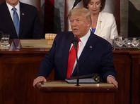 """Трамп в ежегодном обращении к конгрессу пообещал закончить самую долгую войну США, """"сокрушить тиранию"""" в Венесуэле и установить флаг на Марсе"""