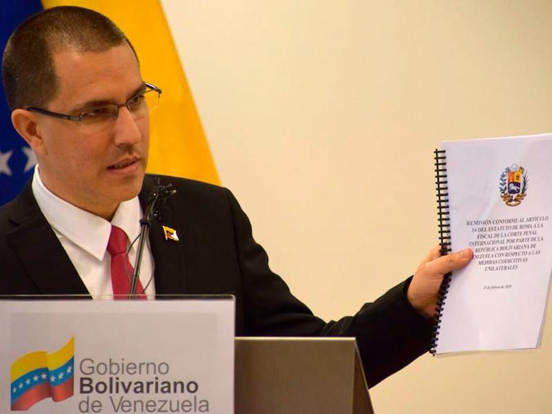 """Венесуэла подает жалобу на США в Международный уголовный суд из-за санкций, приравненных к преступлениям против человечности"""" />"""