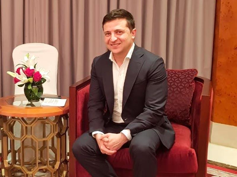 Владимир Зеленский в Омане, 6 января 2020 года