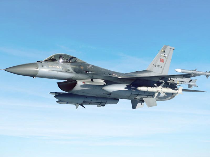 """СМИ сообщили о попытке Сирии сбить ракетой турецкий F-16"""" />"""