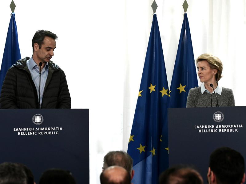Еврокомиссия (ЕК) выделила Греции 700 миллионов евро для решения проблем с сирийскими беженцами, которые стремятся попасть в Европу через Турцию. Об этом заявила во вторник глава Еврокомиссии Урсула фон дер Ляйен на совместной пресс-конференции в Греции с премьер-министром этой страны